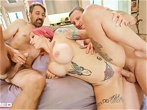 rammed Anna Bell Peaks squirts ash she tears up two rods
