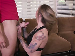tatted cutie Gets boinked