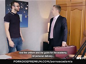 porno ACADEMIE Lana Rhoades likes plowing French trouser snake