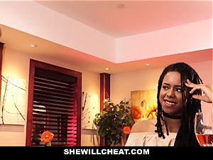 SheWillCheat - cheating wife romps bbc in bathroom