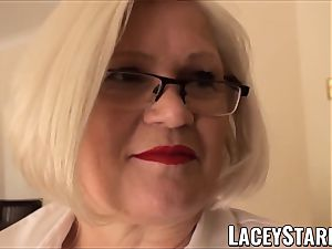 LACEYSTARR - enslaved GILF backside tucked by Pascal white