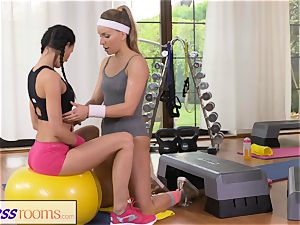 FitnessRooms 2 lezzy Gym counterparts workout