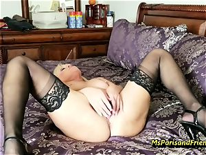 fill Up the Strippers widely opened poon with Ms Paris Rose