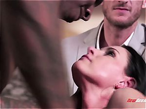 molten wife India Summer climaxing on a black pink cigar