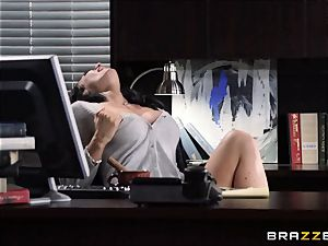 assistant Jayden Jaymes smashes on the bosses desk