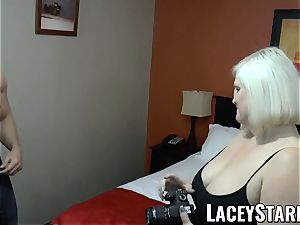 LACEYSTARR - GILF tempts thick dicked grizzly into pounding