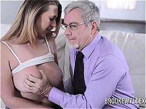 nubile Brooke Wylde pummeling old boy