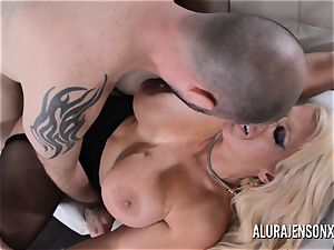 huge-boobed light-haired Alura Jenson likes a stud in uniform