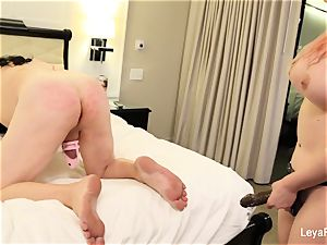 Leya ball drizzles Sissy Jessica then pulverizes his caboose