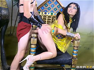 phat beef whistle inserted into the lil' minge of Egyptian honey Rina Ellis