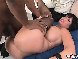 milf boned by a ebony man in front of her husband