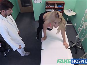 FakeHospital buxomy Russian stunner drinks cumload