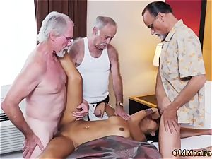 father boinks counterpart playfellow s sonnies damsel and aged duo seduce youthfull Staycation with a