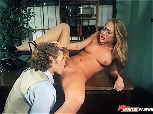 Carter Cruise pulverized stiff over the table