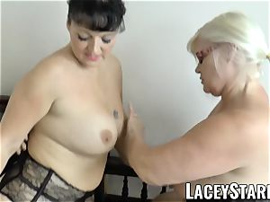 LACEYSTARR - Mature doc penetrated by interracial couple