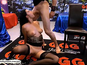 bashful Alice practice Monster jizz-shotgun for the first time