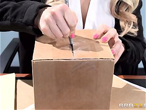 handsome office honey Alix Lynx takes a 2nd helping