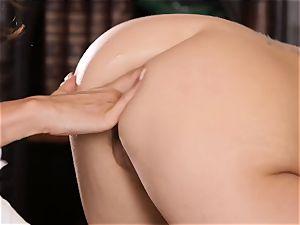 insane college girl Riley Reid manages the vag of instructor Ariella Ferrera