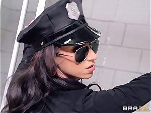 prison threeway with marvelous cops Anikka Albrite and Jada Stevens