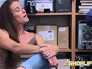 super-fucking-hot mummy Sofie is destroyed by wild officers loaded trouser snake