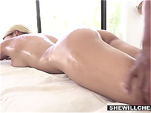 big-titted Latina wife cheats with the gifted black massagist