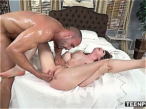 Russian swap student lets him jizz inwards her