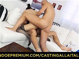 audition ALLA ITALIANA - red-hot milf has double anal invasion joy