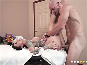 Monique Alexander packed nutsack deep in her tight muffhole