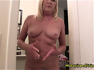 mom Plays with Herself The Has urinate piss play Time
