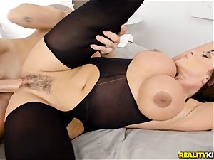 Ariella Ferrera bashed in her cock-squeezing tiny minge