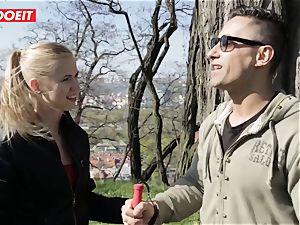 LETSDOEIT -freak guy Tricks warm blond Tourist Into fuck-a-thon