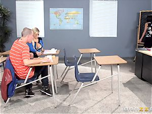 Bibi Noel and Anissa Kate shag in the classroom