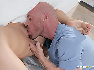 nasty wife with large inborn orbs enjoys getting slammed in a cuckold act