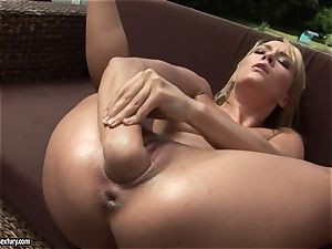 Blue Angel love fist fucking at the bed