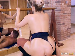 NIkky dream oiled up and beaten in the gym