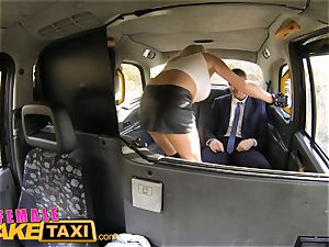 nymph fake cab Office worker gets a big-chested surprise