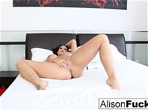 Alison Tyler taunts with her electro-hitachi