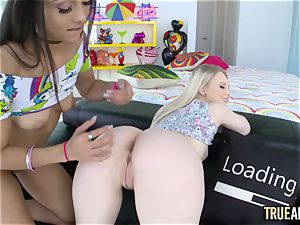 TRUE assfuck ass fucking tag crew with Lilly Hall and Lily Rader