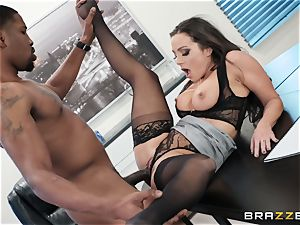 Abigail Mac plunged by a ginormous ebony spear