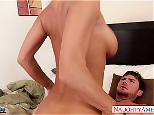 huge-chested brunette in stockings Jessica Jaymes gets drilled