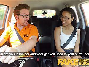 fake Driving college ebony yankee minx Kira Noir