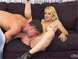 Sarah Vandella fucks on cam and fucktoys her twat to orgasm