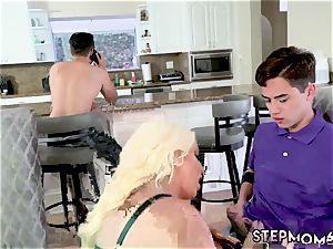 meaty knocker ash-blonde gym douche Step mom s new ravage fucktoy