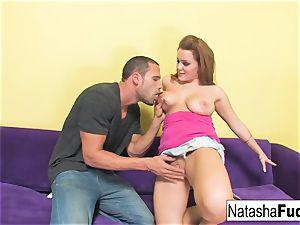 Natasha Gets to ride Carlo's hefty weenie