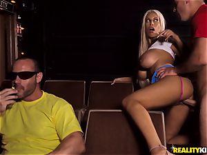 Cinema man rod fellating buxom Bridgette B