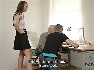 DADDY4K. father and youthful chick scorching fuckfest in couch culminates with creampie