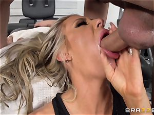 Courtney Taylor touched and romped