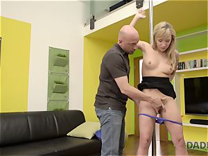 DADDY4K. whorey nubile makes love with beau s elder father behind his back