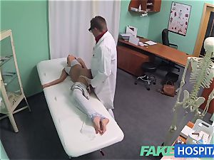 FakeHospital hot dark-haired Patient comebacks longing lollipop