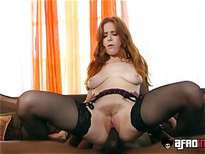 audition ALLA ITALIANA red-haired screwed by a ebony chisel